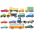 different types of cars vector image vector image