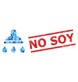 distress no soy stamp seal and shower collage of vector image vector image