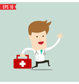 Doctor carry suitecase for emergency service vector image