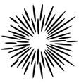 doodle design element starburst hand drawn vector image vector image