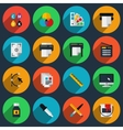 Flat color printing icons vector image vector image