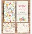 Floral card templates vector image vector image