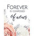 floral design card with garden rose white peony vector image