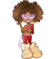Funky Afro Girl vector image