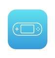 Game console gadget line icon vector image vector image