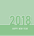 happy new year 2018 paper postcard vector image vector image