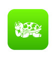 happy turtle icon simple style vector image vector image