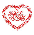 holiday gift card with hand lettering romantic vector image