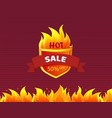 hot sale heraldic badge promo offer 50 percent off vector image vector image