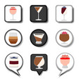 icon logo for set symbols sweet jelly panna cotta vector image