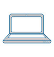 isolated office laptop vector image