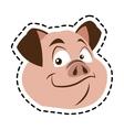 Isolated pork cartoon design vector image