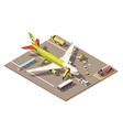 isometric low poly airport apron vector image