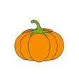 large ripe pumpkin flat icon vector image vector image