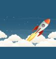 launching rocket vector image vector image