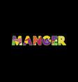 manger concept word art vector image vector image