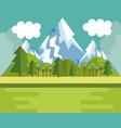 mountain landscape design vector image