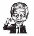 nelson mandela cartoon caricature vector image vector image
