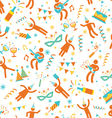 Party People Seamless Pattern vector image
