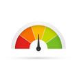 rating customer satisfaction meter different vector image vector image
