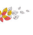 retro autumn leaves background nature concept vector image vector image