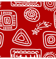 Rock Paintings White on Red vector image