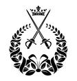 Royal laurel wreath with swords vector image vector image