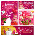save date wedding day symbol bride and groom vector image