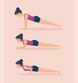 set of girls doing yoga design vector image