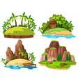 set of isolated island vector image vector image