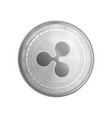 silver ripple coin symbol vector image