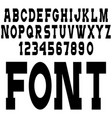 simple black font alphabet lettersnumbers vector image vector image
