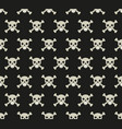 skull and bones seamless pattern skeleton vector image vector image