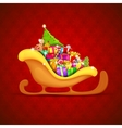 Sledge full of Christmas Gifts vector image vector image
