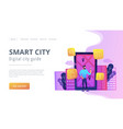 smart city and digital city guide landing page vector image vector image