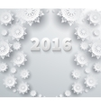 Snowflakes Background 2016 vector image vector image