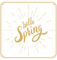 Spring is Coming Hand drawn lettering vector image