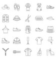 stitching icons set outline style vector image vector image