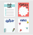 summer to do lists collection vector image