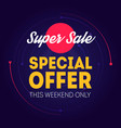 super sale - banner template special offer this vector image vector image