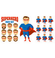 superhero face set cartoon character vector image