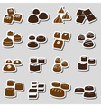 sweet chocolate truffles styles stickers set eps10 vector image vector image