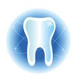 tooth dental care symbol icon vector image vector image