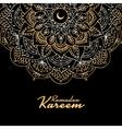 Traditional ramadan kareem month celebration vector image vector image