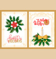 warm wishes and happy holidays greeting cards vector image vector image