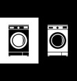 washing machine icon flat minimalist style vector image
