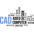 word cloud cad vector image vector image