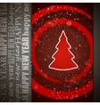 card with christmas tree vector image