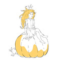 - cute little girl Princess vector image