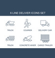 6 deliver icons vector image vector image